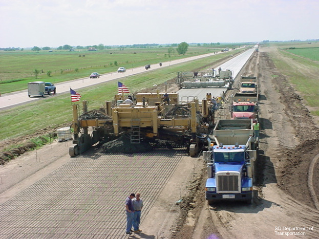 Road work in South Dakota