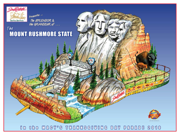 South Dakota and the Black Hills float design for Macy's Thanksgiving Day Parade 623