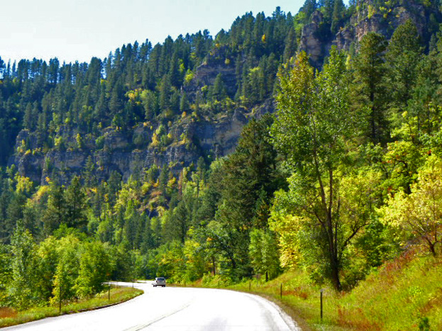 Spearfish Canyon fall colors, courtesy Jerry Boyer.