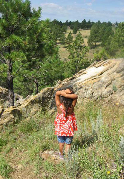 My daughter and I found areas with spectacular views of the Black Hills and Wyoming landscape.