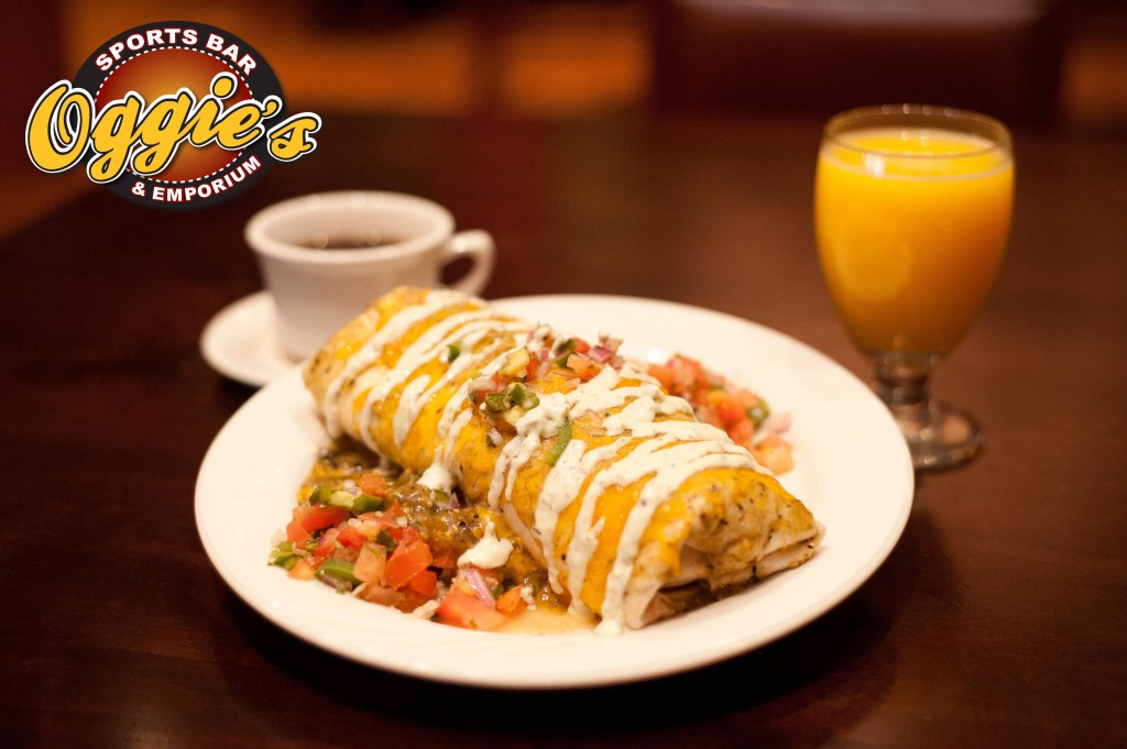 Wrangler's Breakfast Burrito, Oggie's Sports Bar