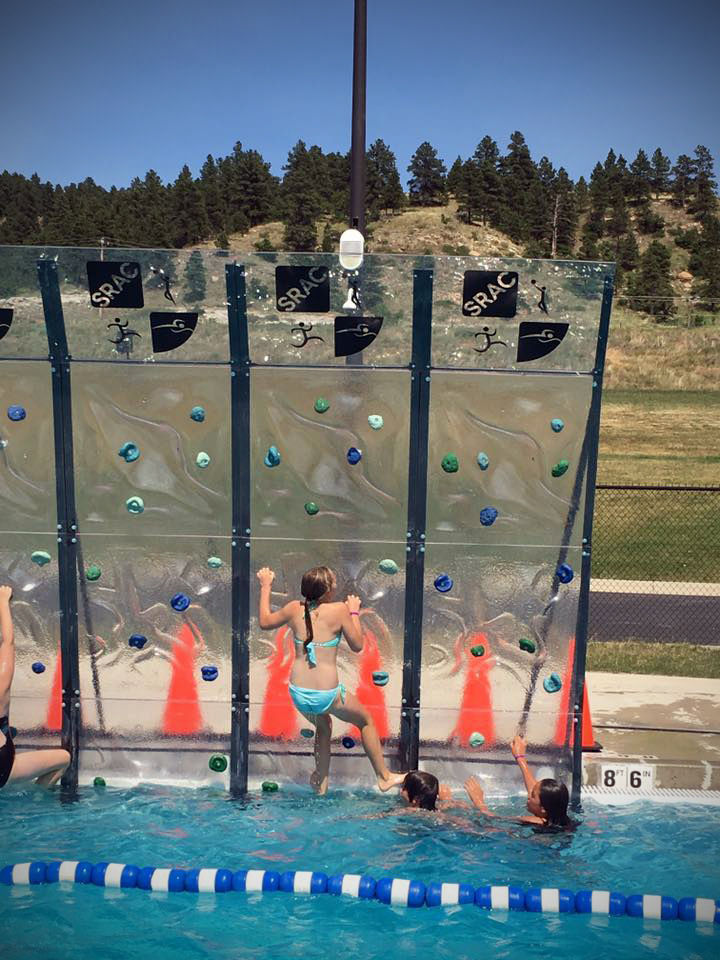 Climbing wall at Spearfish Rec & Aquatics Center.