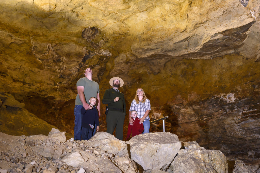 Park Rangers talk about the formation and geology of the crystals on all of the tours.