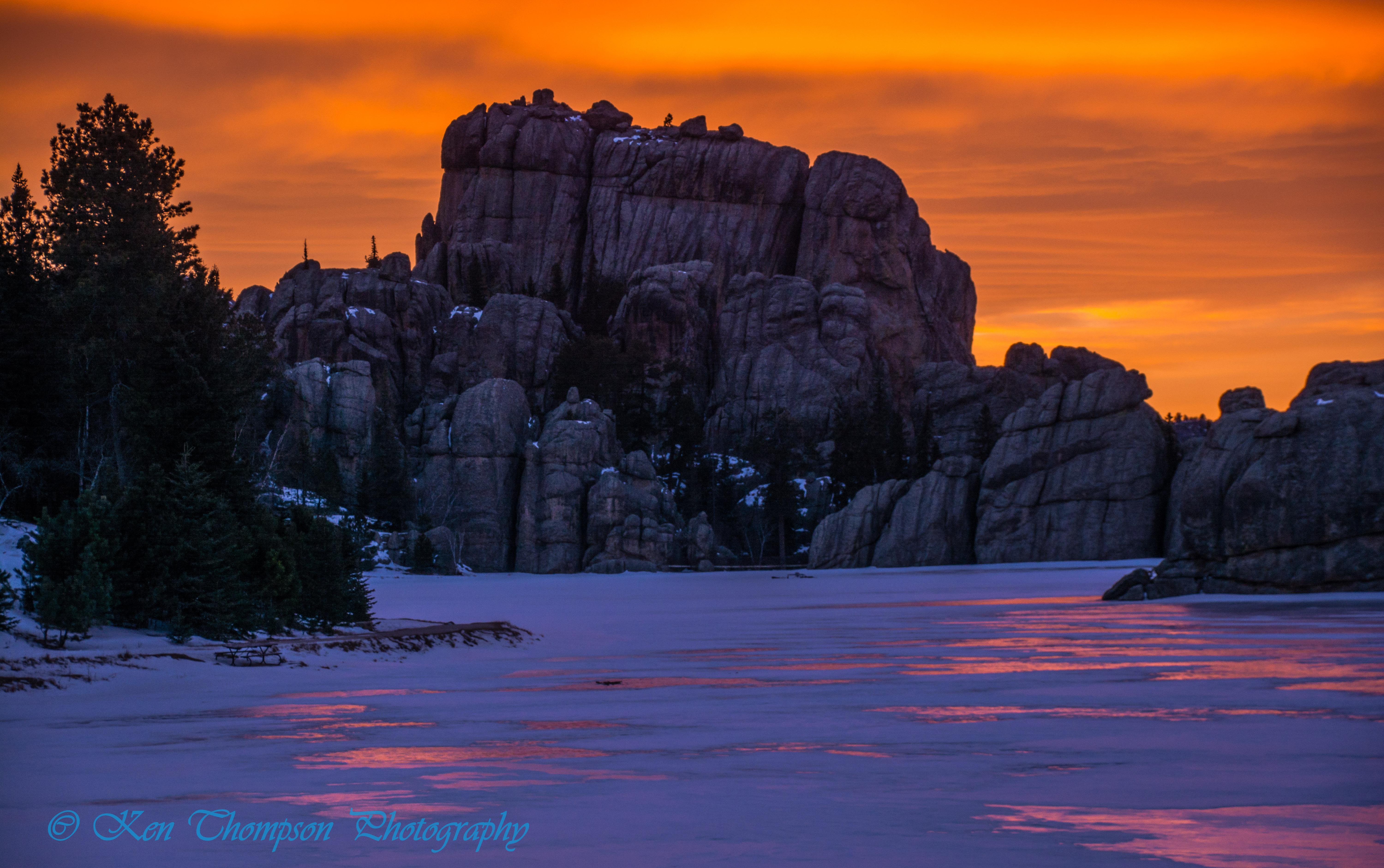 Sylvan Lake Sunset - Custer State Park
