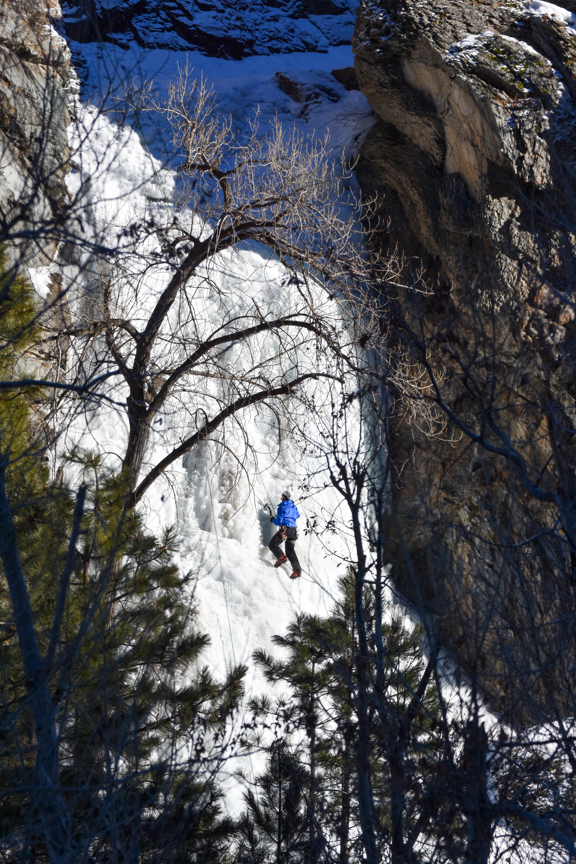 Ice Climbing Bridal Veil Falls