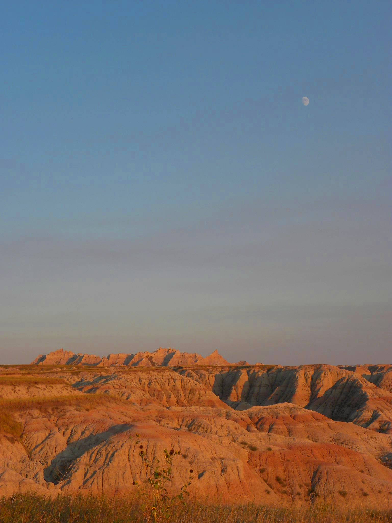 Moon Rising Over the Badlands