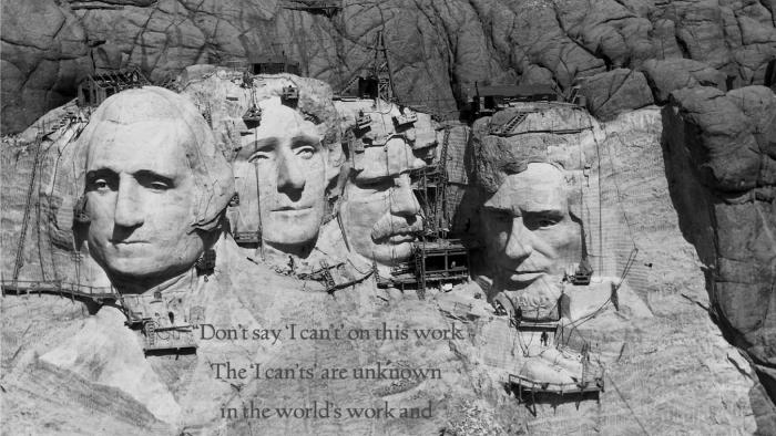Mount Rushmore historical construction photo by Rise Studios