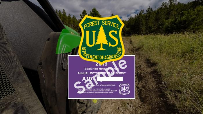 2019 Black Hills National Forest Motorized Trail Permit