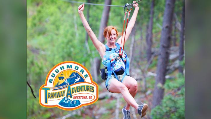 Zipline at Rushmore Tramway Adventures*