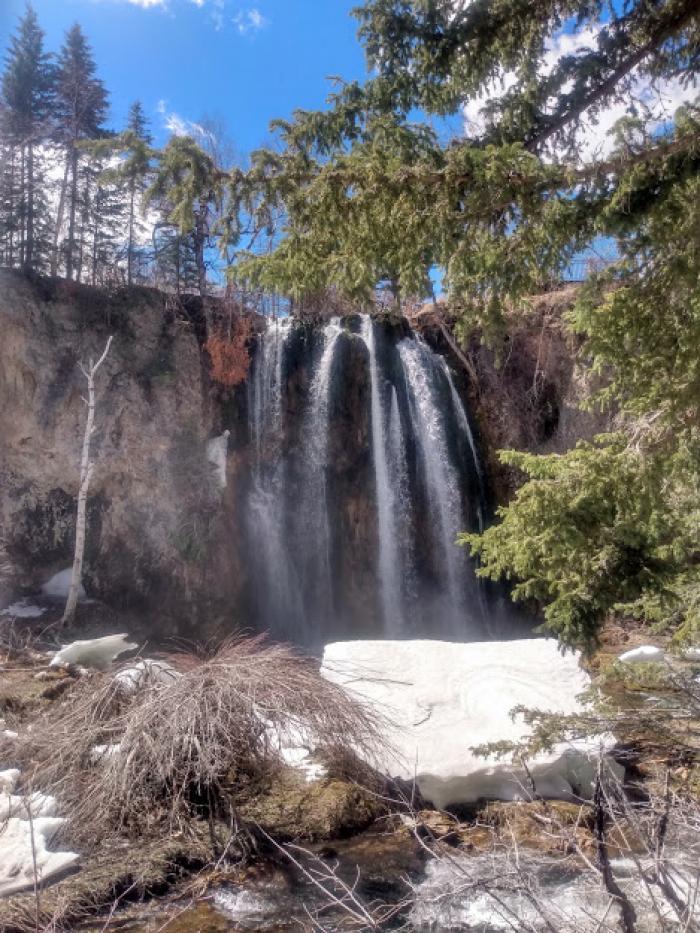 Snow Bank Beneath Spearfish Falls