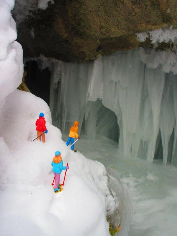 Snowshoeing at 11th Hour Gulch, Spearfish Canyon