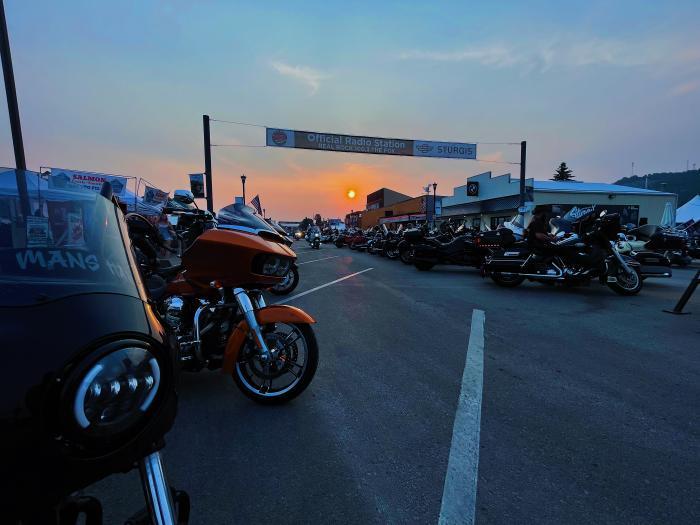 A Smoky Sturgis Sunset