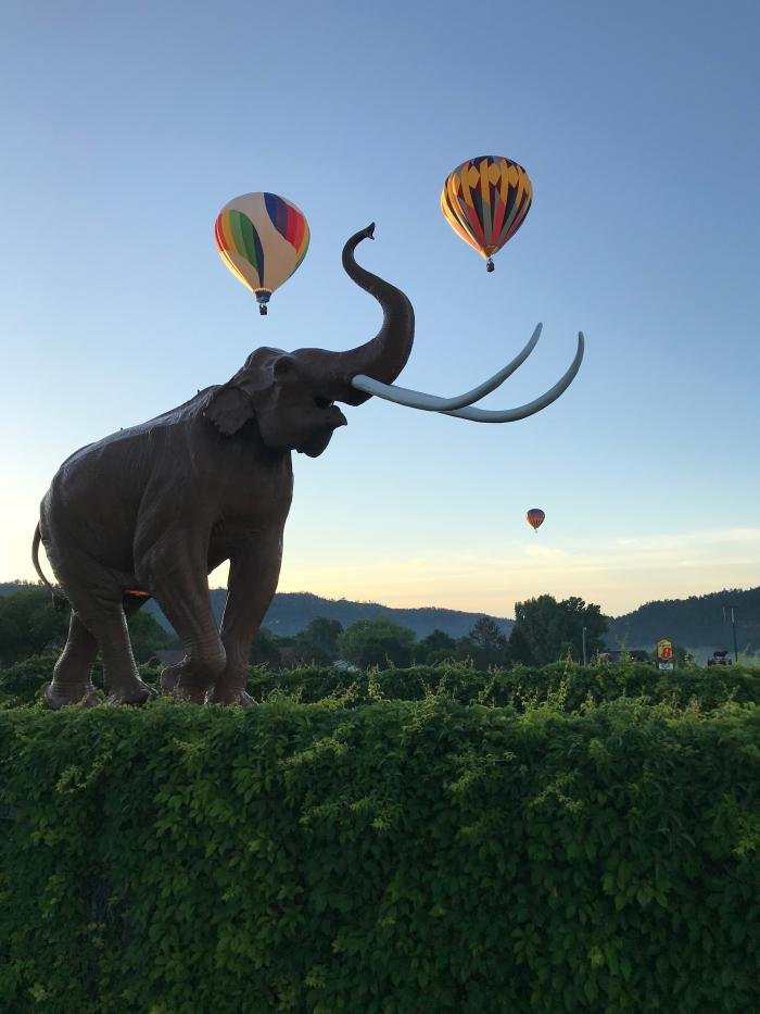 Mammoth Site Balloon Launch