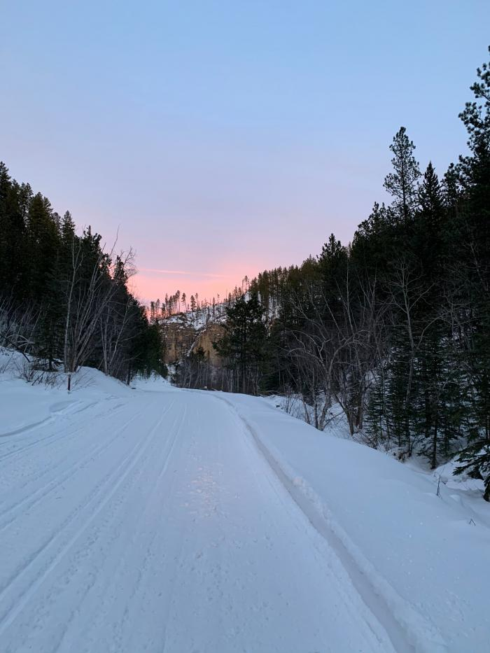 Sunset on Snowmobile Trail Four
