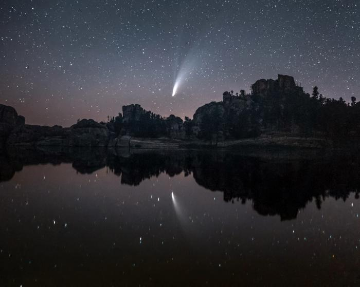Comet NEOWISE at Sylvan lake