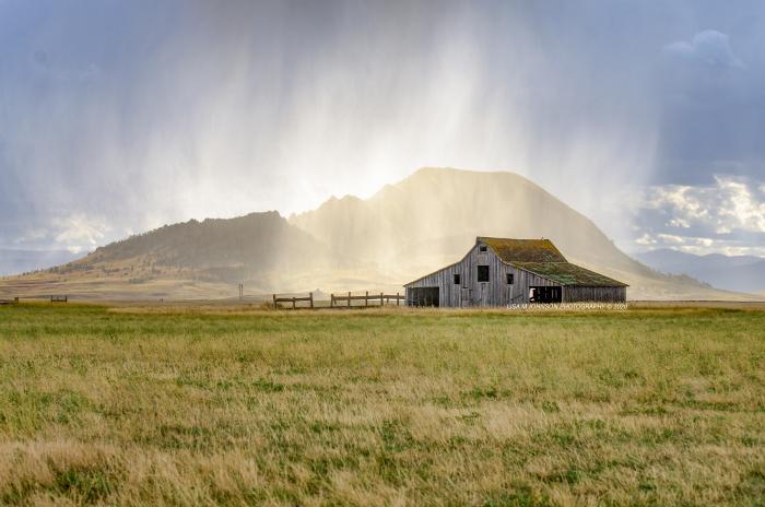 Afternoon Rainstorm Over Bear Butte