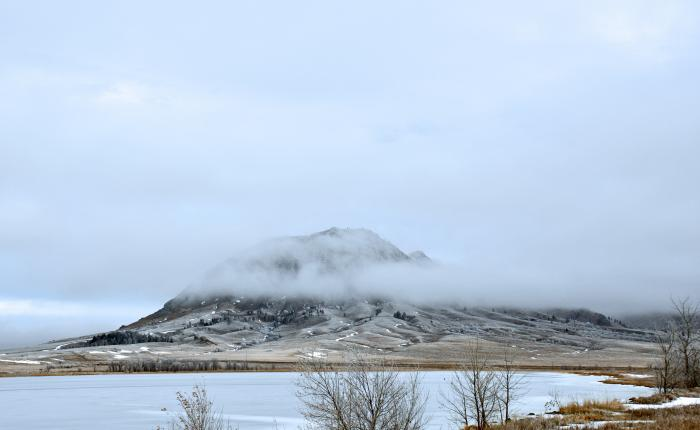 Winter Morning at Bear Butte