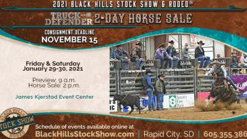 Black Hills Stock Show Truck Defender 2-Day Horse Sale