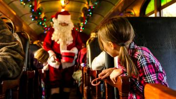 Holiday Express Aboard the 1880 Train