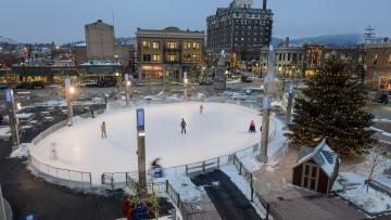 Ice Rink Opening Day at Main Street Square