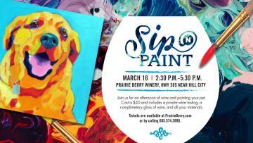 Sip 'n Paint Your Pet