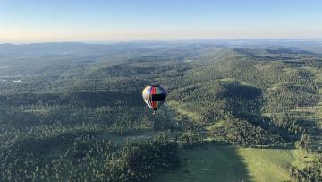 Stratobowl Historic Hot Air Balloon Launch