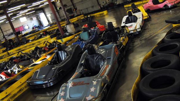 Flags & Wheels Indoor Racing