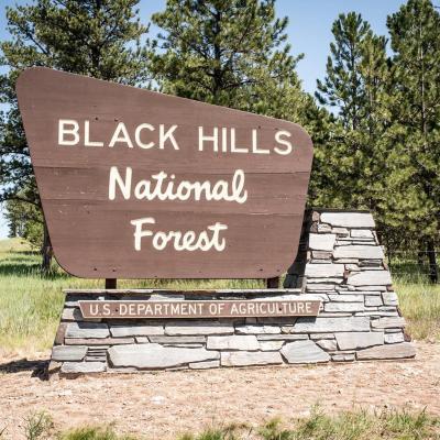 Black Hills Welcome Sign