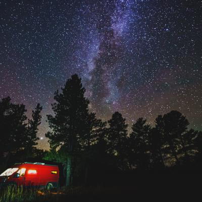 Cold, Starry Night in the Black Hills