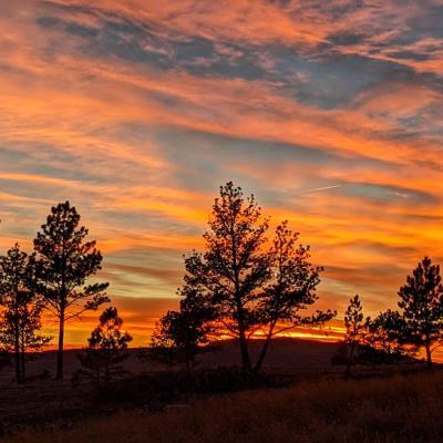 sunset over Elk Mt