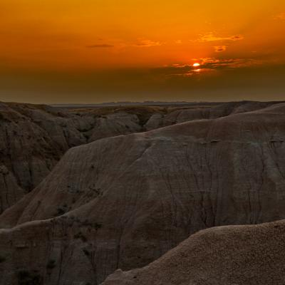 Beautiful Badlands Sunset