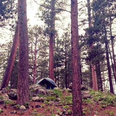 Camping at Sheridan Lake