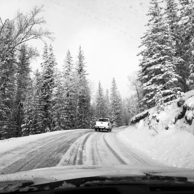 Snowy Sylvan Lake Rd