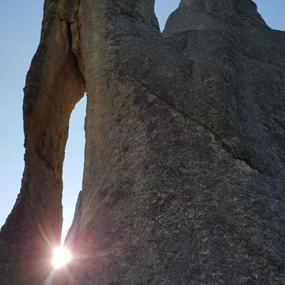 Sun threading the Needle's Eye