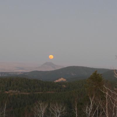 Halloween Moon Over Bear Butte