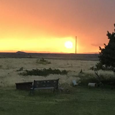 Fireball at Sunset