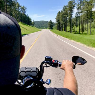 The best views are from the back of a motorcycle