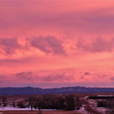 Watercolor Sunset Over Sturgis