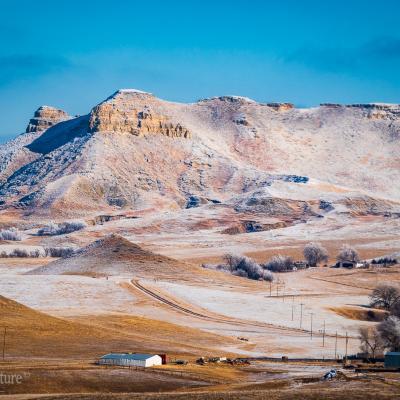 Castle Rock in the Frosty Skies