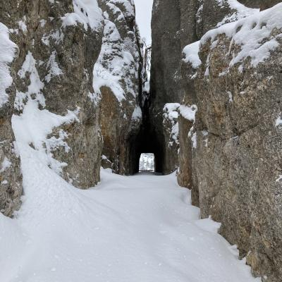 First Tracks into Needles Eye Tunnel