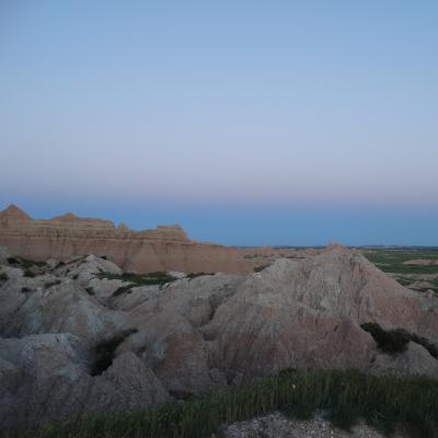 Badlands at Dusk
