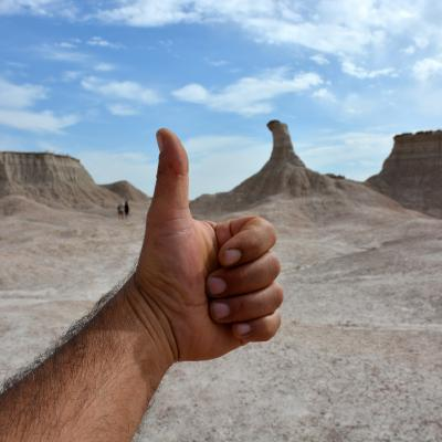 Hitchhiker's Memorial in the Badlands