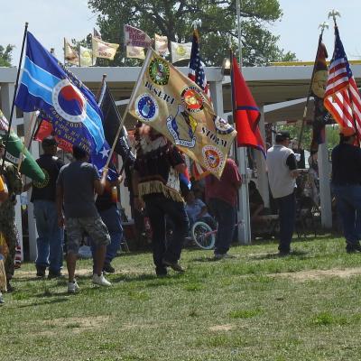 Flag Bearers at Oglala Lakota Nation Pow Wow