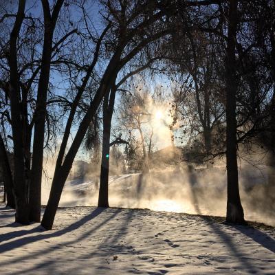 Steamy Morning in Hot Springs