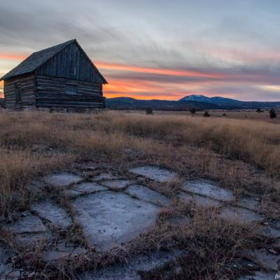 Sunset at the High Plains Western Heritage Center