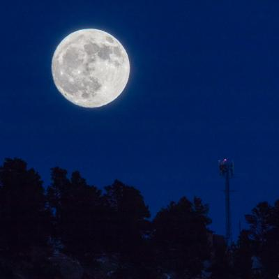 Moonrise Over Lookout Mountain