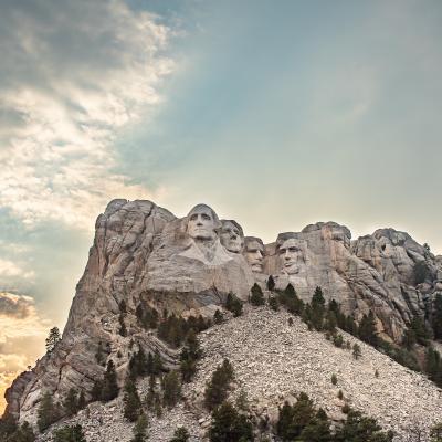 Sunset at Mount Rushmore