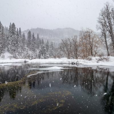 Snowy Reflections in Spearfish Canyon