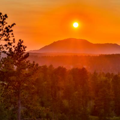 Crow Peak Sunset