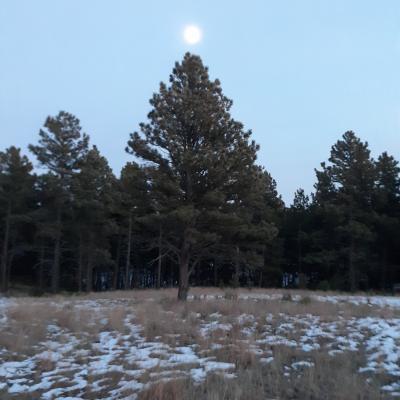Moonrise Over Hot Springs